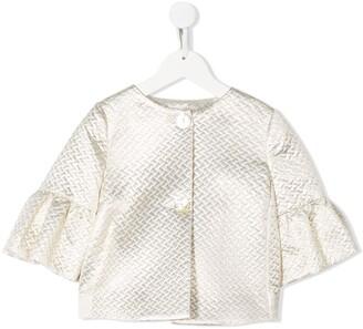 MonnaLisa textured flared sleeve jacket