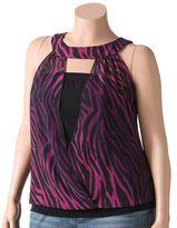 Mock-Layer Zebra Top