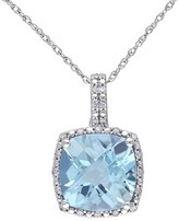 Allura Diamond Pendant Necklace in 10k White Gold (GH) (I2:I3)
