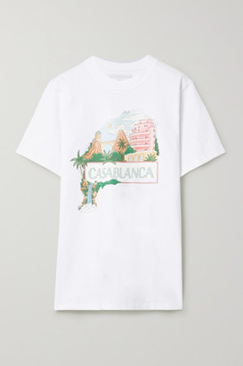 Casablanca Casa Views Printed Cotton-jersey T-shirt - White