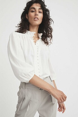 Witchery High Neck Blouse