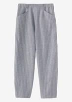 Toast Cross Hatch Stripe Linen Trouser