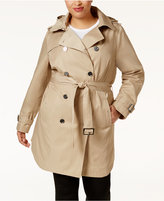 MICHAEL Michael Kors Size Hooded Double-Breasted Trench Coat