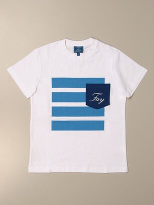 Fay Cotton T-shirt With Logo And Pocket