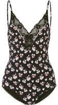 Stella McCartney Vintage Floral Crochet-Trimmed Printed Swimsuit
