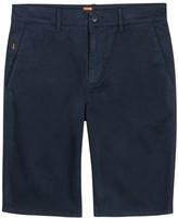Boss Orange Schino Navy Cotton Blend Shorts