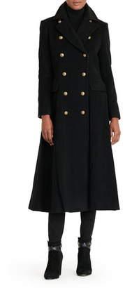 Lauren Ralph Lauren Double Breasted Military Maxi Coat