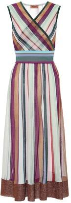 Missoni Striped stretch-silk dress