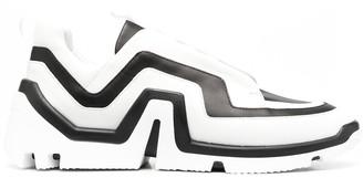 Pierre Hardy Striped Low Sneakers