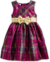 Bonnie Jean Metallic Plaid Special Occasion Dress, Toddler Girls (2T-5T) & Little Girls (2-6X)