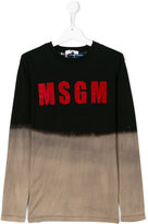 MSGM Teen dyed effect T-shirt