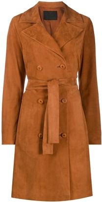 Drome Suede Belted Coat