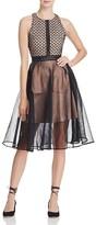 Elliatt Convert Embroidered Lace & Mesh Dress