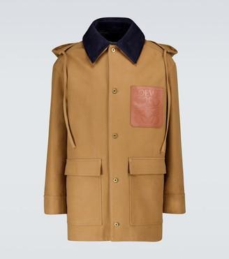 Loewe Hooded workwear jacket