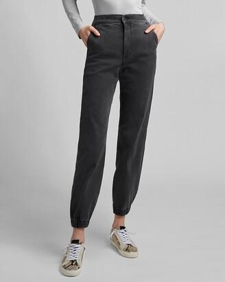Express Super High Waisted Black Jogger Jeans