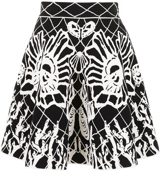 Alexander McQueen Patterned Flared Skirt