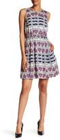 Donna Morgan Print Twill Blouson Dress