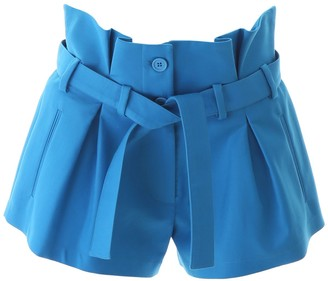 ATTICO Belted Pleated Shorts