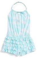 Kate Mack Girl's Cloud Print Ruffled Romper
