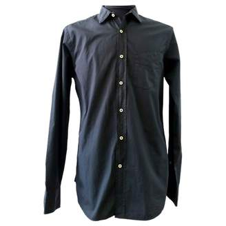 Officine Generale Black Cotton Shirts