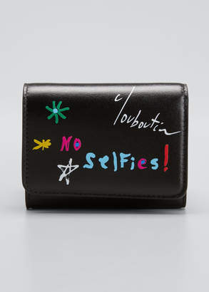 Christian Louboutin No Selfies Script Leather Wallet