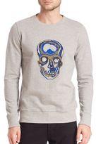 Markus Lupfer Merino Wool Beaded Skull Embellished Sweatshirt