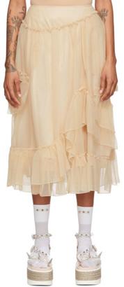 Simone Rocha Beige Bite Skirt