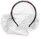 RED Valentino Floral Sequin Netted Hair Band