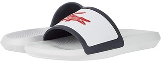Lacoste Croco Slide Tri 3 (White/Navy/Red) Men's Shoes