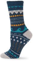 Free People Printed Fleece Crew Socks