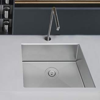 Dimakai Stainless Steel 22'' L x 18'' W Undermount Kitchen Sink with Basket Strainer Dimakai