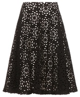 Alice + Olivia Viviana Cut-out Cotton-blend Skirt