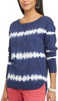 Chaps Women's Tie-Dye Scoopneck Sweater