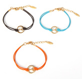 Ettika Leather Peace Bracelet