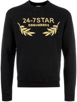 DSQUARED2 24-7STAR embroidered sweatshirt