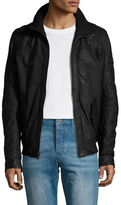 Rogue Leather Stand Collar Jacket