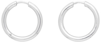 Tom Wood Silver Classic Hoop Medium Earrings