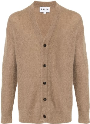 Solid Homme V-neck cardigan