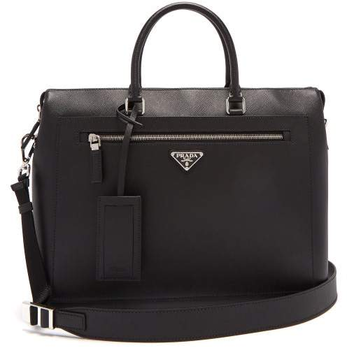 5b41a2e9f9c748 Prada Saffiano Men Bag - ShopStyle