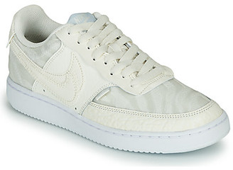 Nike COURT VISION LOW PREMIUM women's Shoes (Trainers) in Beige
