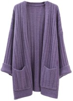 Goodnight Macaroon 'Hebe' Jumbo Ribbed Knit Open Cardigan (4 Colors)