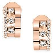 Messika Women's Move Romane 18K Rose Gold & Diamond Mini Creole Earrings