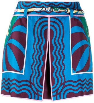 Emilio Pucci Printed Layered Shorts