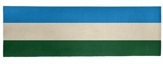 "Striped Green/Cream/Blue Area Rug East Urban Home Rug Size: Runner 2'6"" x 8'"