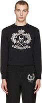 Alexander McQueen Black Skull and Crown Pullover