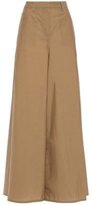 Brunello Cucinelli Crinkled Cotton-blend Wide-leg Pants