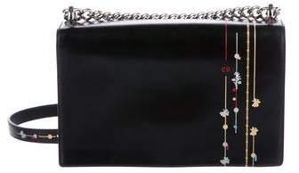 Christian Dior Floral and Stripes Printed Diorama Large Flap Bag
