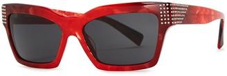 Alain Mikli Arlette Red Square-frame Sunglasses