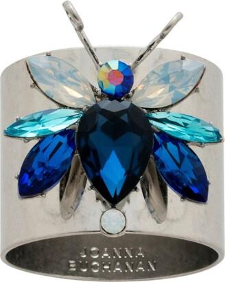 Joanna Buchanan Blue Rainbow Bug Napkin Rings (Set of 2)