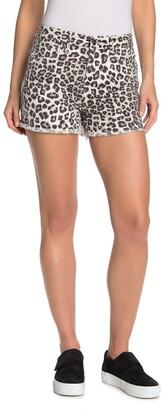 Good American The Cut-Off Cheetah Print Shorts